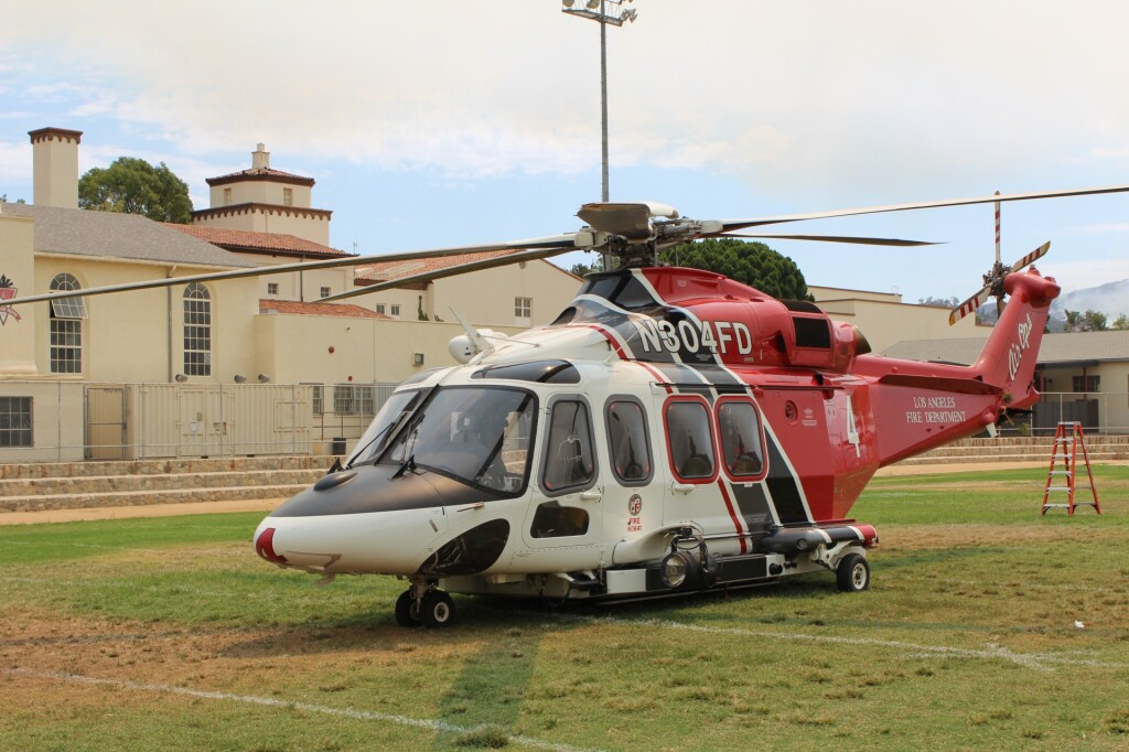 LAFD AW139 N304FD after LOC-I and Tree Collision (Credit: NTSB)
