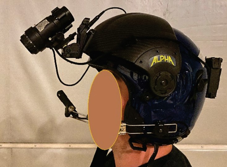 NVGs in the Up Position (Credit: DAIB)